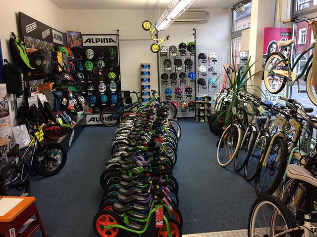 Teilansicht unseres Fahrradladens in Aschaffenburg